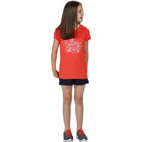 Regatta Bosley III Camiseta Niños, fiery coral